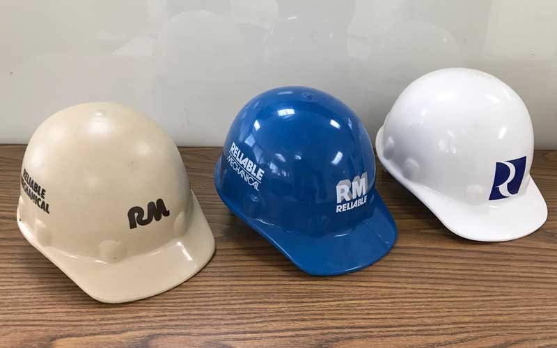 Reliable Contracting Hard hats