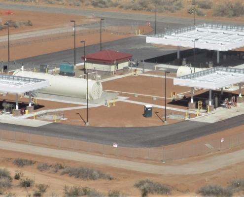 A fueling range site