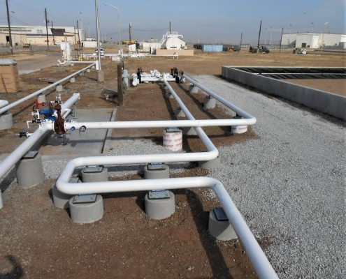 above ground fuel transfer pipeline at the Atlas Air Force Base