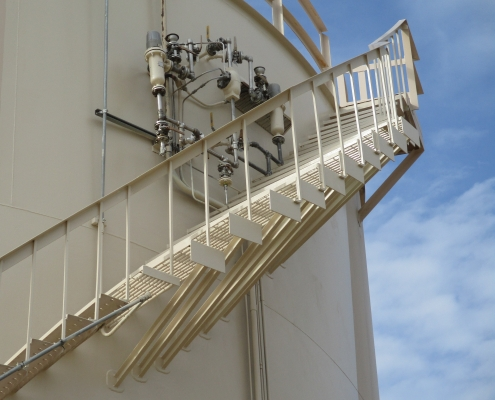 Repaired stairs on the Fuel tank at the Andrews Air Force Base