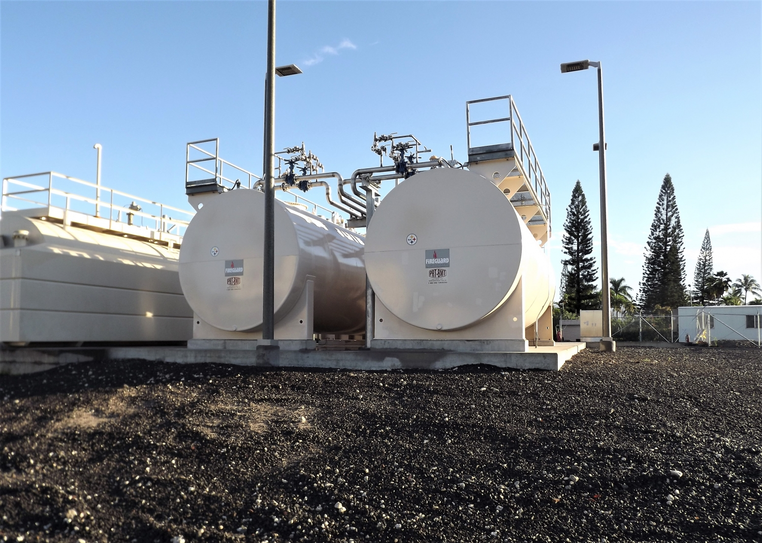 two new 15,000 Gallon double wall above ground fuel storage tanks