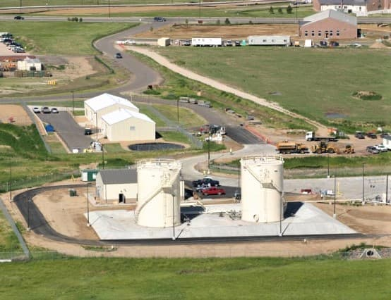 A Fuel Storage Facility on an Air Force Base
