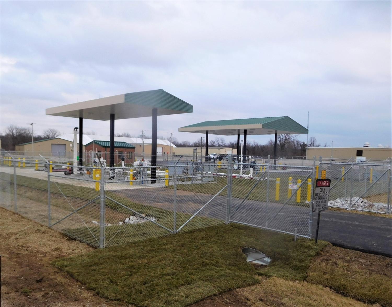 A fueling facility at Camp Atterbury
