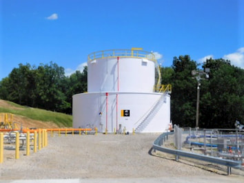 a large fuel storage tank