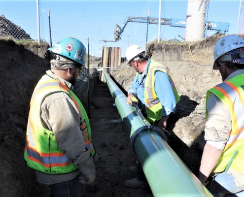 Working on the replacement fuel pipeline for the Minot Air Force Base