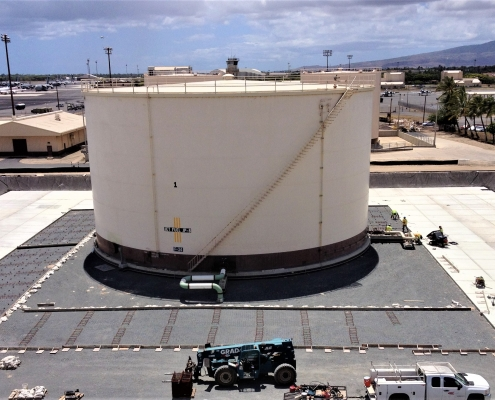 A new Fuel Storage Tank at the Hickman Air Force Base