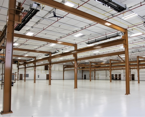 interior of the F-16 maintenance hangar facility