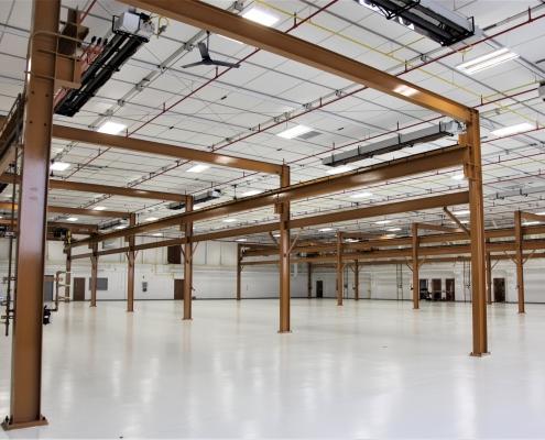 interior of the F-16 maintenance hangar facility