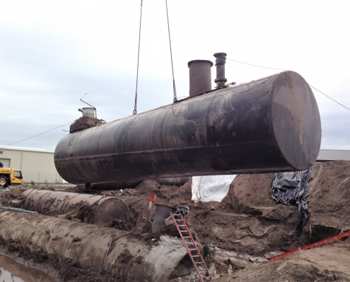 removing an underground fuel tank