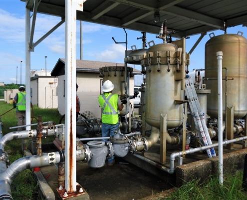 demolishing a fuel system