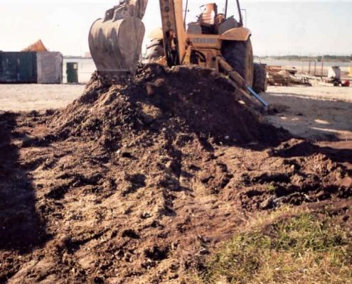 demolishing 3 cut and cover underground fuel storage tanks
