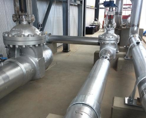 Standalone Central Compressor Unit piping