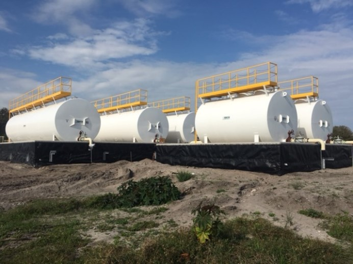 A new bulk fuel storage facility at the Cape Canaveral Air Force Station