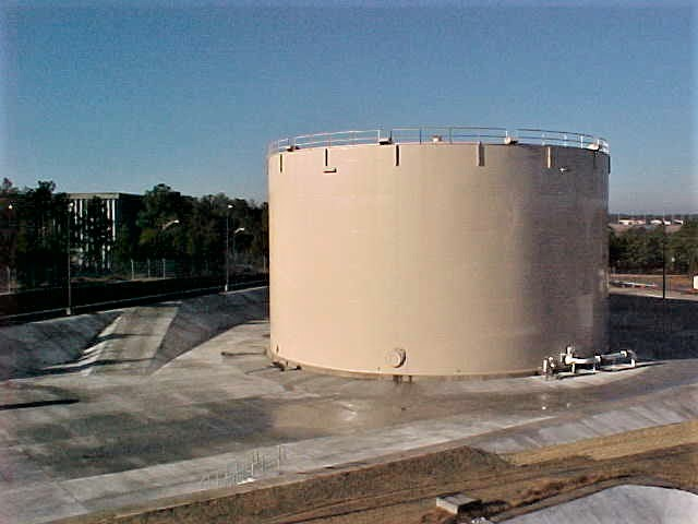 a new 55,000 Bbl fuel storage tank at the Pope Air Force Base