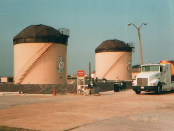 Two fuel tanks built at Scorr Air Force Base