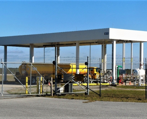 A Jet fuel refill station at the Naval Air Station in Pensacola Florida