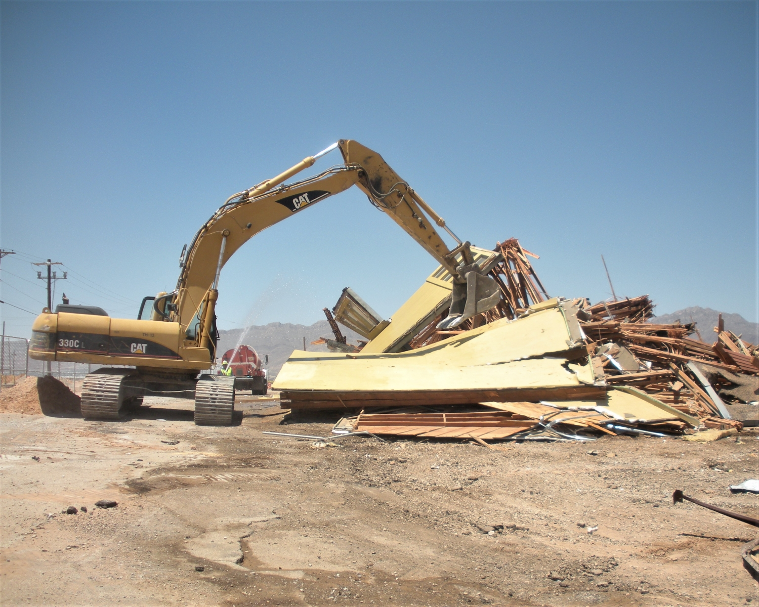 demolishing a fueling facility