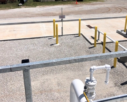 fuel spill containment area