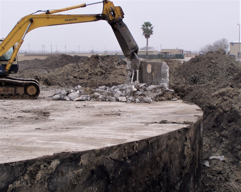demolishing a fueling facility
